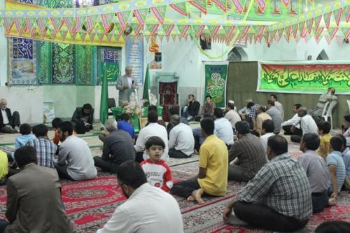 همنشینی با مردم در مسجد امیرالمومنین (علیه السلام) گلدیس شاهین شهر