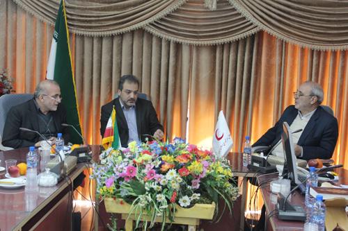 حضور آقای حاجی در جلسه هیأت مدیره جمعیت هلال احمر استان اصفهان