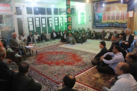 جلسه سیاسی آقای حاجی در بیت الشهدا حضرت امام خمینی(ره) نجف آباد
