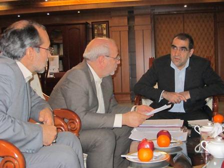 ملاقات آقای حاجی با وزیر بهداشت، درمان و آموزش پزشکی