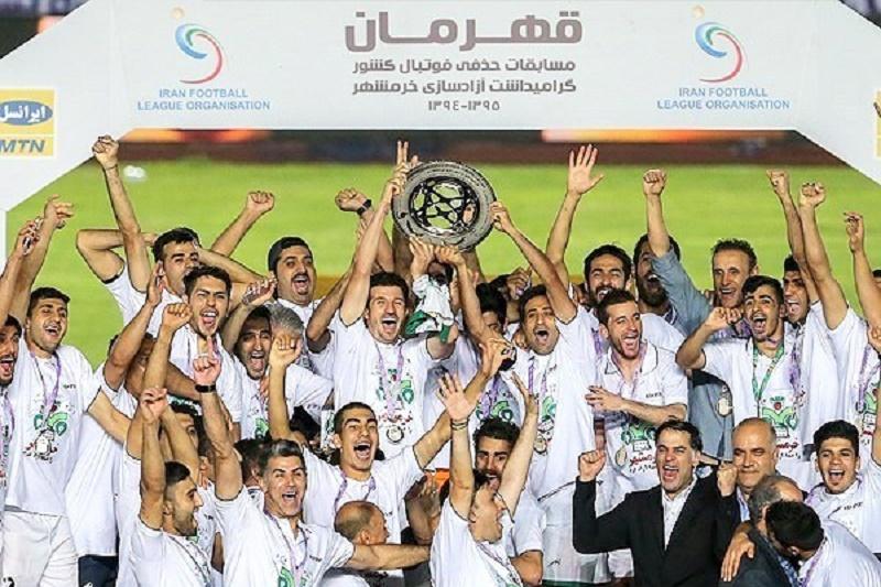 پیام تبریک آقای حاجی بمناسبت قهرمانی تیم فوتبال ذوب آهن در جام حذفی