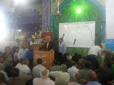 آقای حاجی در جمع مردم منطقه زیار اذعان کرد :  فقدان نظارت بر استفاده غیر قانونی از منابع آبی بالادست استان اصفهان