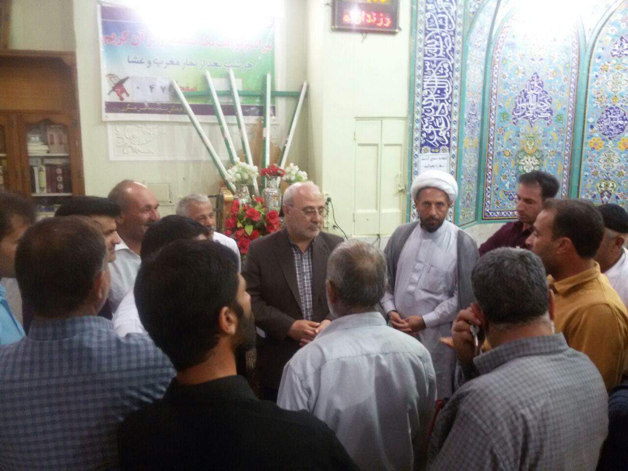 همنشینی با مردم شریف شهر سین درمسجد امام حسن عسکری علیه السلام