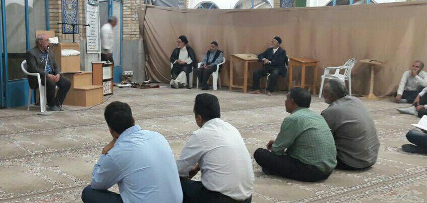همنشینی با نمازگزاران مسجد جامع شهر دستگرد
