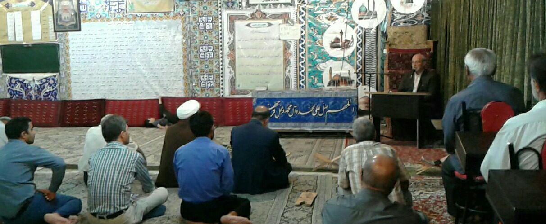 آقای حاجی همنشین مردم شریف شاهین شهر در مسجد محله هشت بهشت این شهر شد.
