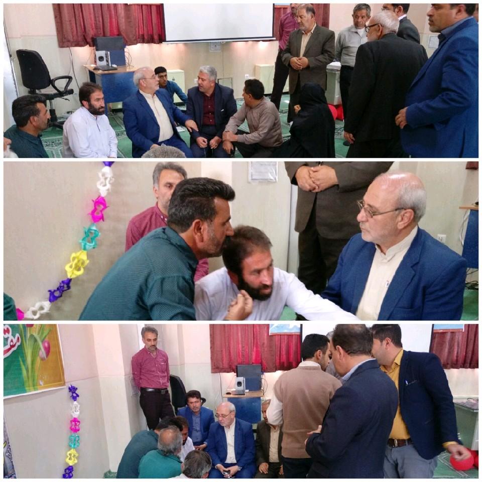حضور آقای حاجی در جمع فرهنگیان محسن آباد