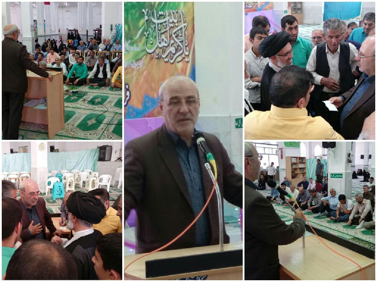 ✳حضور وسخنرانی جناب آقای حاجی در جمع نمازگزاران مسجد پنج تن آل عبا علیهم السلام شهر گز برخوار