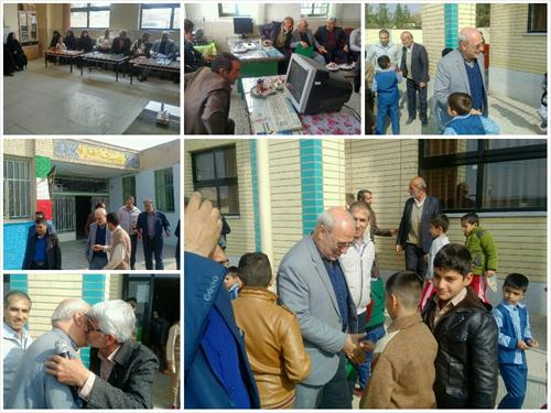 آقای حاجی به منظور دیدار و گفتگو با اقشار مختلف مردم شریف محسن آباد به این روستا سفر کرد