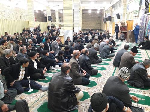 سخنرانی در جمع نمازگزاران مسجد جامع شهر گز برخوار