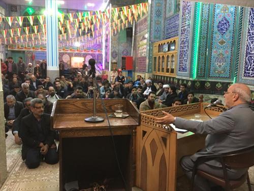 سخنرانی در جمع نمازگزاران مسجد قائم خوراسگان
