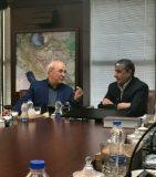 ✅✅حسینعلی حاجی ظهر امروز با حضور در وزارت راه و شهرسازی با محمد اسلامی دیدار و گفتگو کرد.