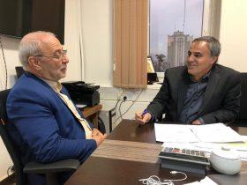 🔘دیدار آقای حاجی با دکتر نعمتی معاون امور استان های سازمان برنامه و بودجه کشور