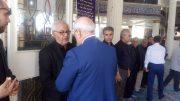 🔲 حضورآقای حاجی در مراسم درگذشت هنرمند محبوب مرحوم سید بهنام صفوی