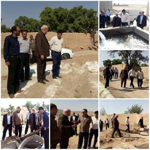 🔵بازدید آقای حاجی از پروژه های کشاورزی روستای اذان در بخش میمه