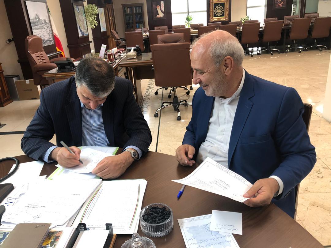 ✅دیدار و گفتگوی آقای حاجی با مهندس اسلامی وزیر راه و شهرسازی