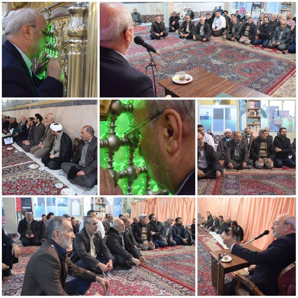 جلسه انتخاباتی آقای حاجی  در امامزاده نرمی برگزار شد