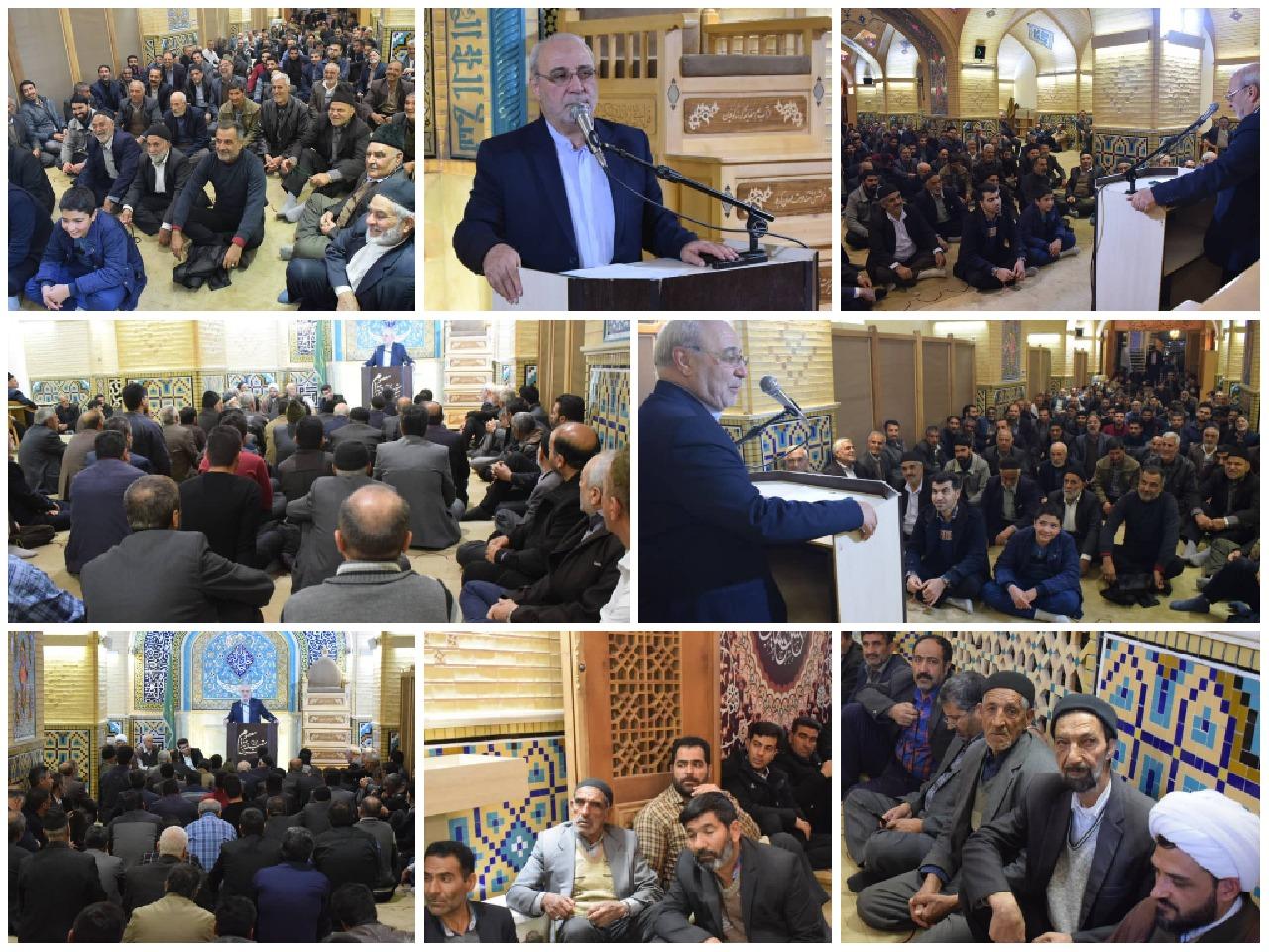 حاجی در اجتماع پرشور هواداران خود در شهرگرگاب:
