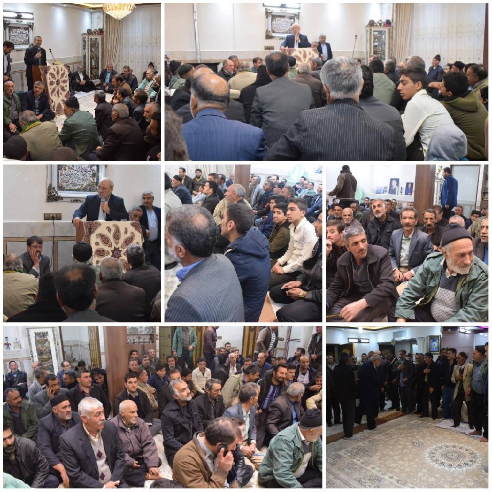 جلسه انتخاباتی آقای حاجی در محله آقا شریف- گز برخوار