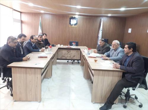 روسای تامین اجتماعی شعب شاهین شهر و گز برخوار با جناب آقای حاجی دیدار کردند