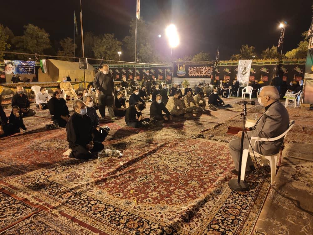 حضور و سخنرانی آقای حاجی در جمع عزاداران حسینی