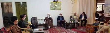 جلسه مجمع فرهنگی رسانه ای رویش با آقای حاجی