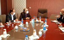 دیدار و گفتگوی آقای حاجی با رئیس سازمان زمین شناسی و اکتشافات معدنی کشور