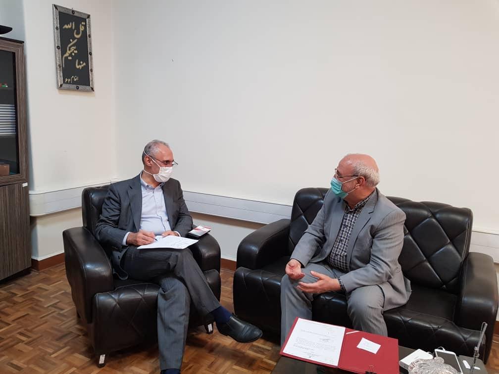 جلسه آقای حاجی با معاون سازمان برنامه و بودجه کشور