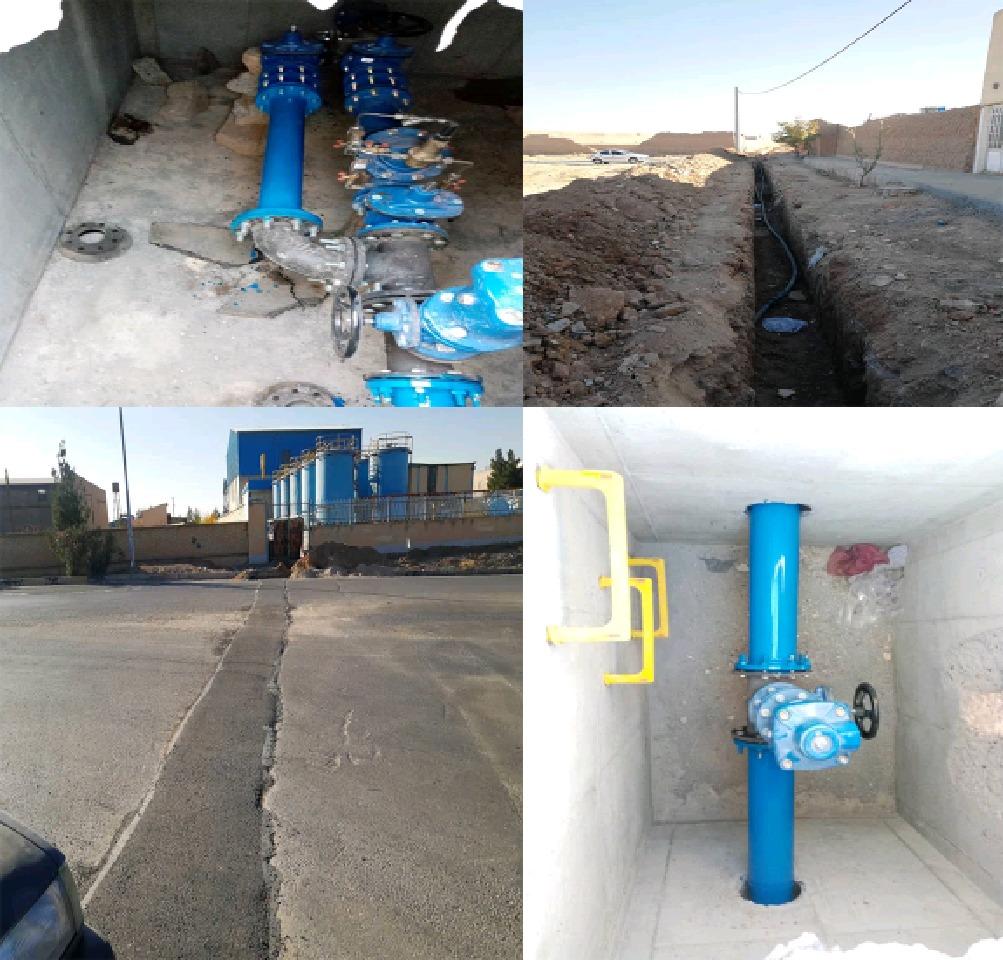 احداث شبکه خط انتقال آب شرب بهداشتی برای روستای مورچه خورت