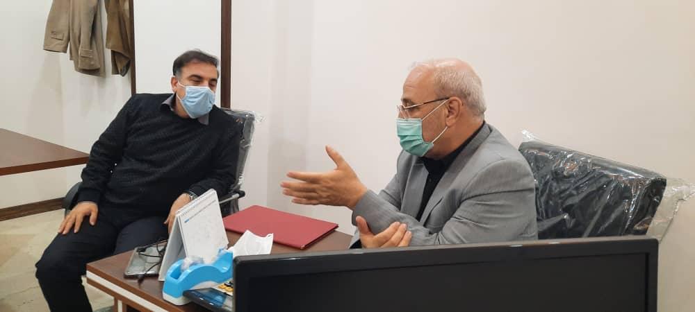 حسینعلی حاجی با دکتر مسعود سلیمانی دیدار و از تلاشهای علمی این دانشمند ارزشمند کشورمان تقدیر کرد