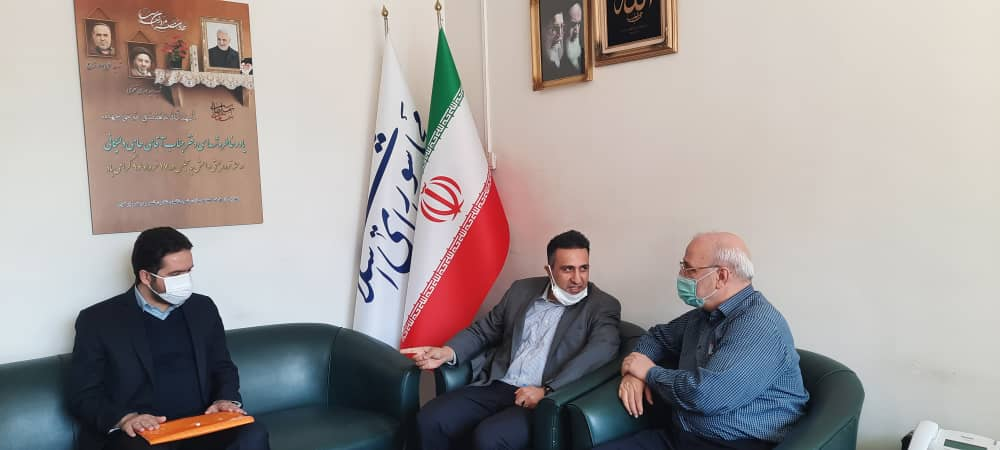 دیدارمدیرعامل شرکت روغن نباتی گلبهار سپاهان و رئیس انجمن شیرخشک ایران با آقای حاجی