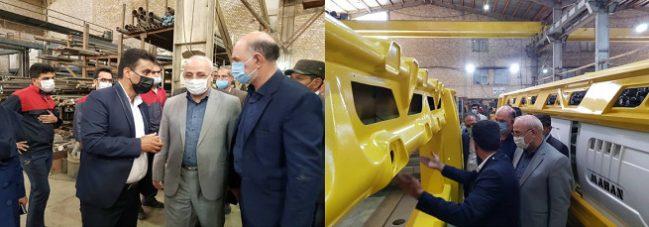 بازدید آقای حاجی از کارخانه تولید دستگاه های ساب سنگ ماهان