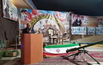 سخنرانی آقای حاجی در مراسم یادواره شهدای محله دلیگان خورزوق